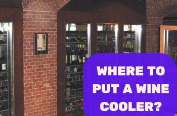Where to put a wine cooler feature